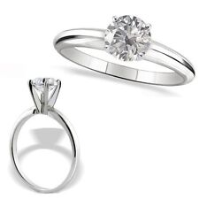 2.68 Carat G-H I1 Round Diamond Beautiful Solitaire Marriage Ring 14K White Gold