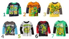 "Toddler Baby Kids Boys T-shirts Top Tee Long Sleeved T Shirt 7 Colors ""TMNT"""