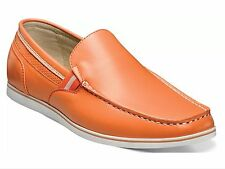Stacy Adams Men's Coy Moc Toe Classic Slip On Loafer Shoes Orange 25041 New & BX