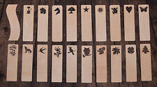 Plain Wooden Bookmarks Unpainted Shapes Cut Gift Tags Decoupage Art Craft Cat