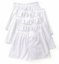 Fruit Of The Loom 5P595 Core Solid Cotton White Woven Boxers - 5 Pack