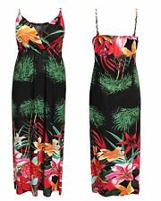 LADIES WOMENS HALTER NECK FLORAL PRINT SUMMER BEACH DRESS LONG MAXI DRESS 8-14