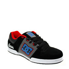 DC Shoes Mens Sport Casual Shoes Lace Up Turbo Black Blue Leather Skate Trainers
