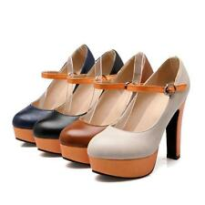Stylish Womens Lady Party Shoes High Heel Platform Strappy Pumps Shoes US Size