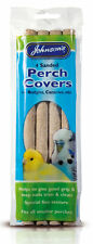 Johnsons Packs of 4 Small Sanded Perch Covers for Budgies Canaries
