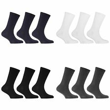 Childrens/Kids Cotton Rich School Socks (3 Pairs)