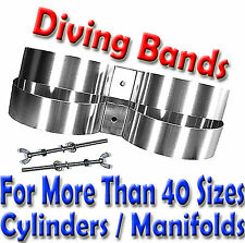 A2 GRADE Scuba Diving Twin Cylinder Band Scuba Tank Bands STAINLESS STEEL