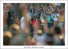 TIGER WOODS SIGNED PRINT PHOTO POSTER WALL DECOR ARTGOLF THE MASTERS 2005 CHIP