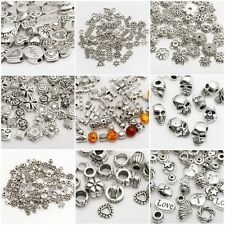 Lots Fashion Silver Plated Loose Spacer Beads Charms Jewelry Making DIY
