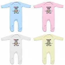 FLOSO Baby Girls/Boys I Love My Uncle This Much Romper Sleep Suit