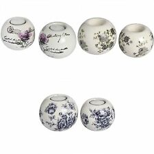 Hill Interiors Set Of Two Ceramic Ball Shaped Tea Light Candle Holders (3 Design