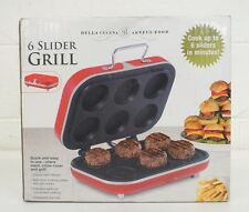 Bella Cucina & Artful Food 6-Slider Grill Red NEW Satisfaction Guaranteed LOOK