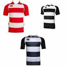 Canterbury Childrens/Kids Challenge Hooped Short Sleeve Rugby Jersey Top UTPC249