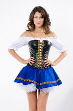 LADIES BEER MAIDEN BABE COSTUME UNIFORM FANCY DRESS OUTFIT SIZE 10 12