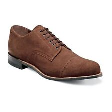 New Stacy Adams Mens Madison Shoes Brown Suede Cap toe oxford Dressy 00066-245
