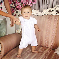 Christening Baby Romper Baby Bodysuit Unisex Newborn Outfit Handmade Clothes