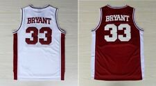 Kobe Bryant #33 Lower Merion High School Red White Swingman Road Jersey All Size