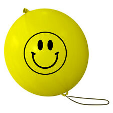 Smiley Punch Balloons. Bright Yellow Perfect for Party Bags, Birthdays Etc!