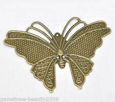 Wholesale HOT! Jewelry Bronze Tone Butterfly Wraps Connectors 6.9x5cm