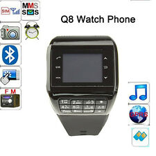 Touch Screen Dual SIM Mobile Cell Phone Wrist Watch Bluetooth Camera Mp3 MP4 Q8