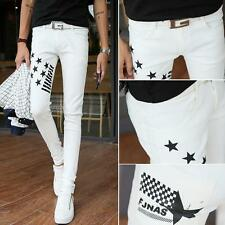 Korean Casual cotton Men's/Boy's Slim fit Pencil Pants Skinny Trousers Size New