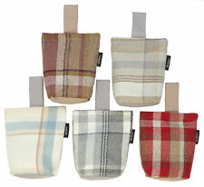 Decorative Heritage Fabric Door Stop - Wool Look Tartan Check Doorstop