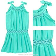 NWT Gymboree 6 7 8 10 SPARKLE SAFARI Embroidered Turquoise Smock Waist Dress