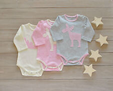 Handmade Baby Girl Set Newborn Baby Bodysuit Unisex Baby Outfit Cotton Clothes