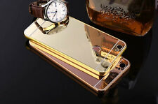 Luxury Aluminum Ultra Thin Mirror Metal Plating Case Cover For iPhone 4/5/6 Plus