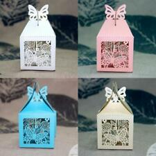 50pcs Laser Cut Butterfly Baby Shower Party Wedding Favor Candy Gifts Boxes