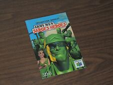 Army Men Sarges Heroes Nintendo 64 N64 Instruction Booklet Manual