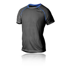 2XU Tech Vent Mens Grey Blue Short Sleeve Crew Neck Running T Shirt Tee Top