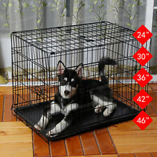 Folding Pet Dog Cage Puppy Dog Crate Metal Training Pet Carrier Playpen