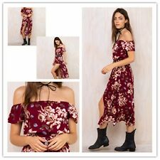 Fashion Female Printed Jumpsuits Women Slash Neck Off Shoulder Sexy Rompers