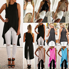 NEW Womens Ladies Casual Sleeveless Vest Blouse Summer Shirt Crop Tops Party