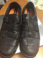 MENS LEATHER TIMBERLAND OPEN WEAVE LEATHER SHOES  RUBBER SOLE SZ 12 M