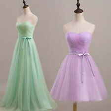 Plus Size Sweetheart Tulle A Line Evening Formal Bridesmaid Wedding Prom Dress