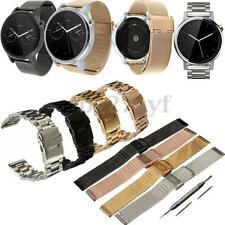 Stainless Steel Watch Band Strap Bracelet w/ Tools for Various Smart Watch Men