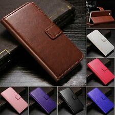 Wallet Card Sloct Flip Leather Pouch Stand Case Cover Holster for iPhone 5&5s SE