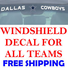 NEW NFL Windshield Decals for Car Van or Truck! ALL TEAMS FREE SHIPPING