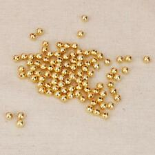 4mm 6mm 100pcs Golden Copper Round Loose Spacer Beads for DIY Jelwelry Making