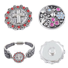 hot sell High quality Alloy Round Chunks Rhinestone Snap Button Charm Gift