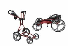 Clever Caddie Upright Caddy Push Cart RED