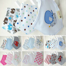 3pcs/set Baby Bandana Bibs Boys Girls Triangle Head Scarf Saliva Towel Dribble