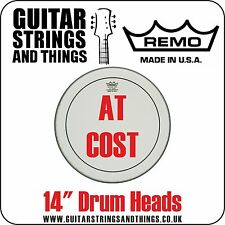 """Remo 14"""" Drum Heads AT COST Clear Coated Ebony Ambassador Emperor Pinstripe"""
