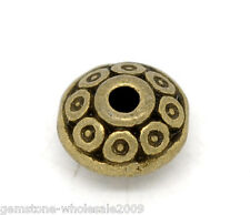 Wholesale Lots Bronze Tone Pattern Spacer Beads 6x4mm