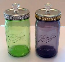 Ball American Heritage Mason JAR with Decorative LID ~ Quart Wide Vtg Style NEW