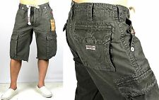 True Religion Brand Jeans Issac Signature Big T Cargo Shorts MAR841K33 Size 29