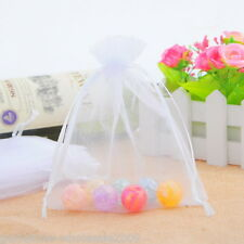 Wholesale NEW 13x16cm White Drawable Organza Wedding Gift Bags &Pouches