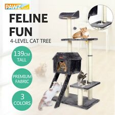 Cat Tree Scratching Post Tower Gym Condo Large Furniture Kitten House Toy 139CM